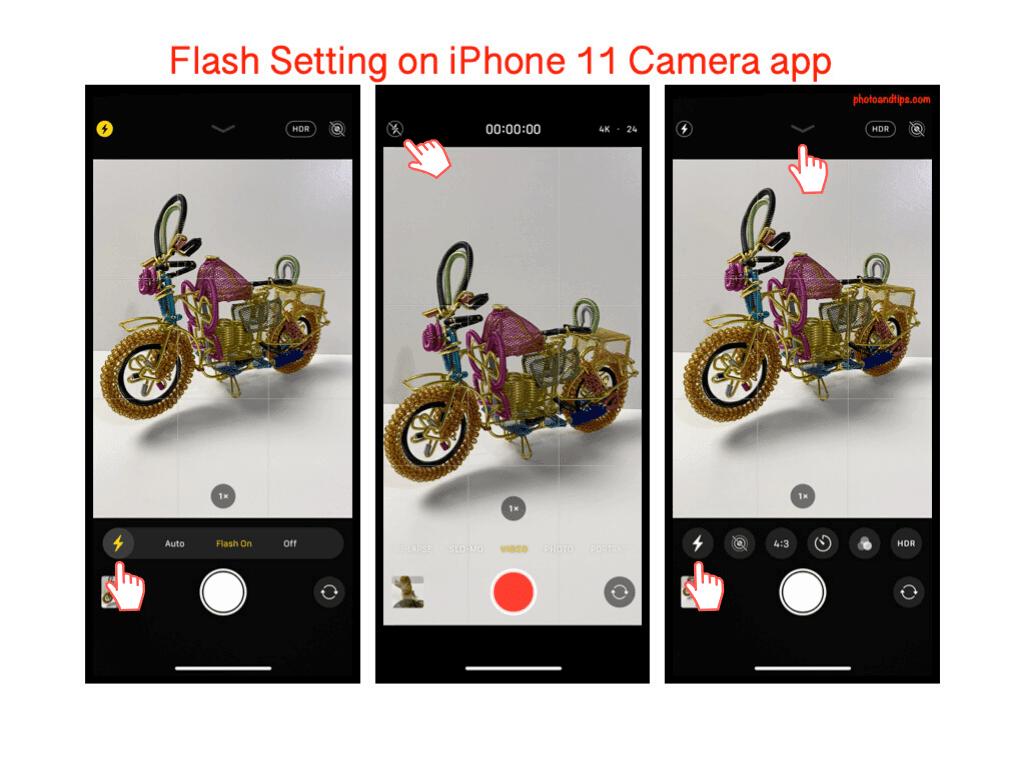 Flash Setting on iPhone 11 Camera app