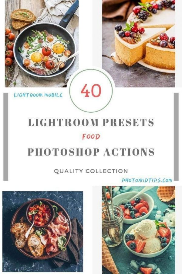 Food Lightroom Presets and Photoshop Actions