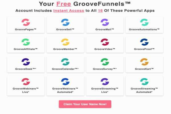 Groove Platform and all the marketing tools available.