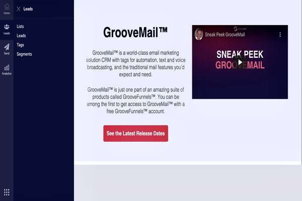 GrooveMail platform for email marketing