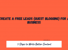 How to Create a Free Leads (Guest Blogging) For Another Business