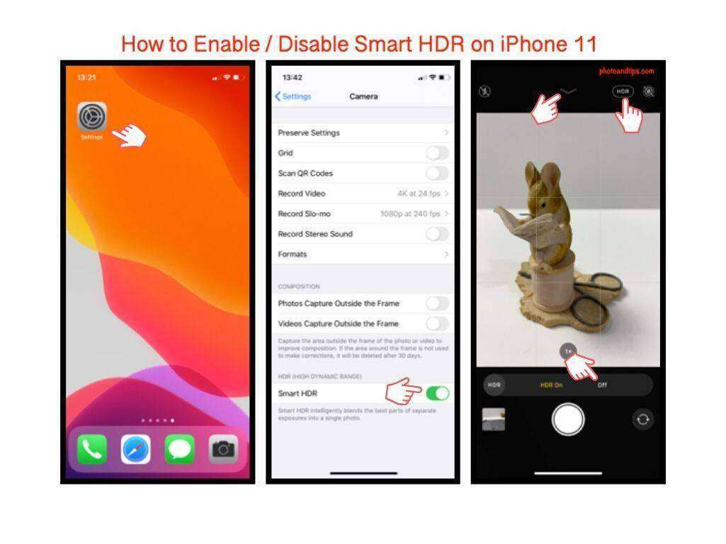 How to Enable / Disable Smart HDR on iPhone 11