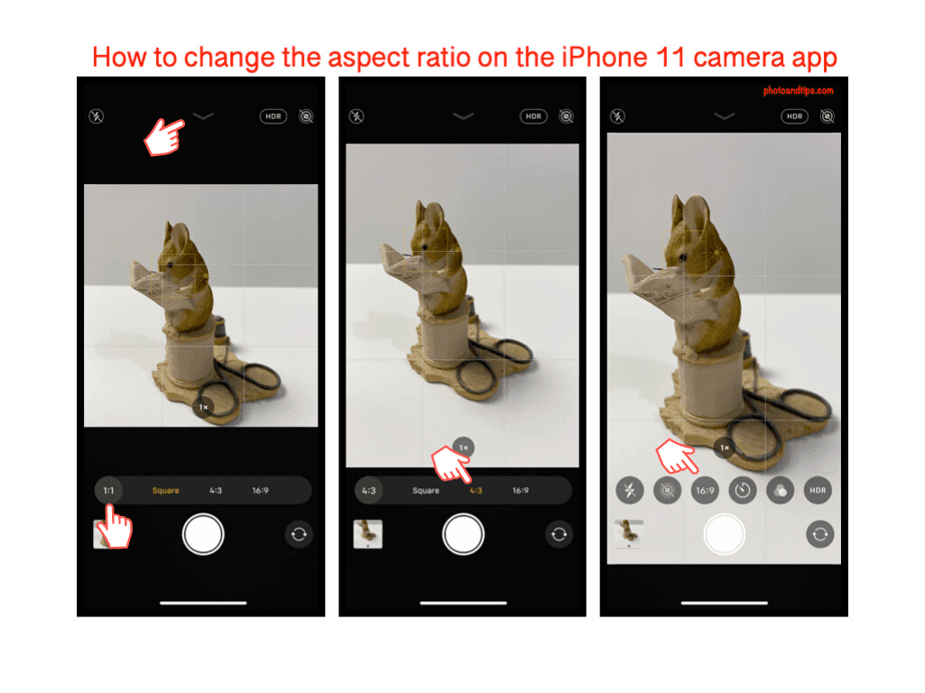 How to change the aspect ratio on the iPhone 11 camera app