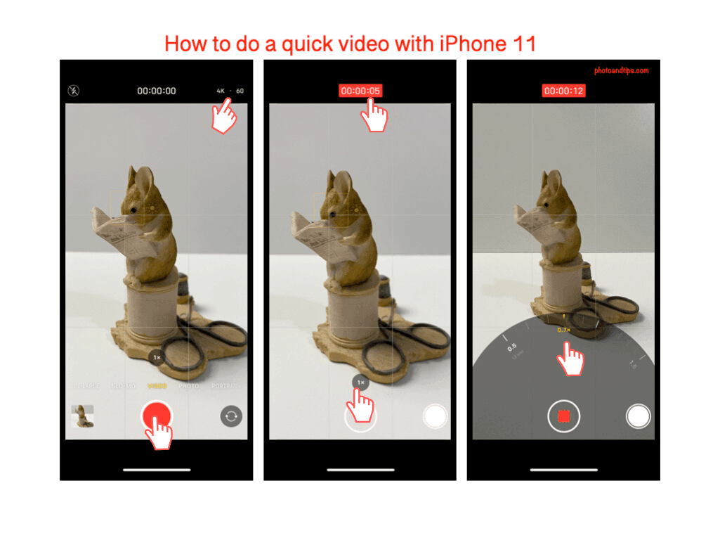 How to do a quick video with iPhone 11