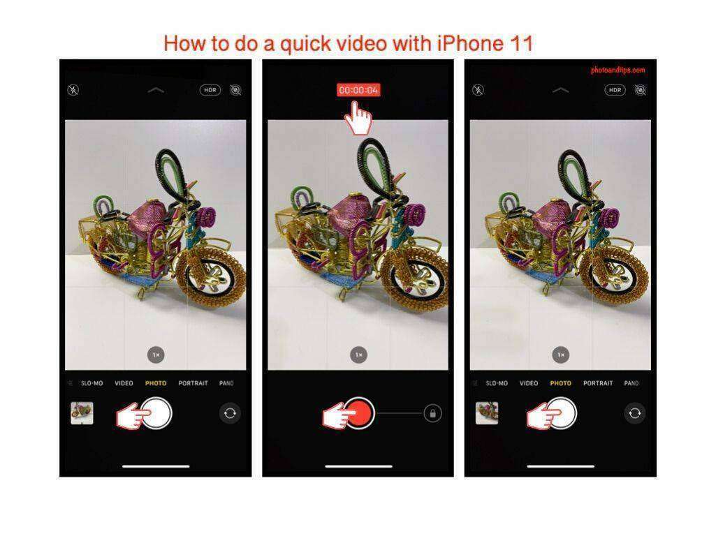 The fastest way to do a short video on iPhone 11