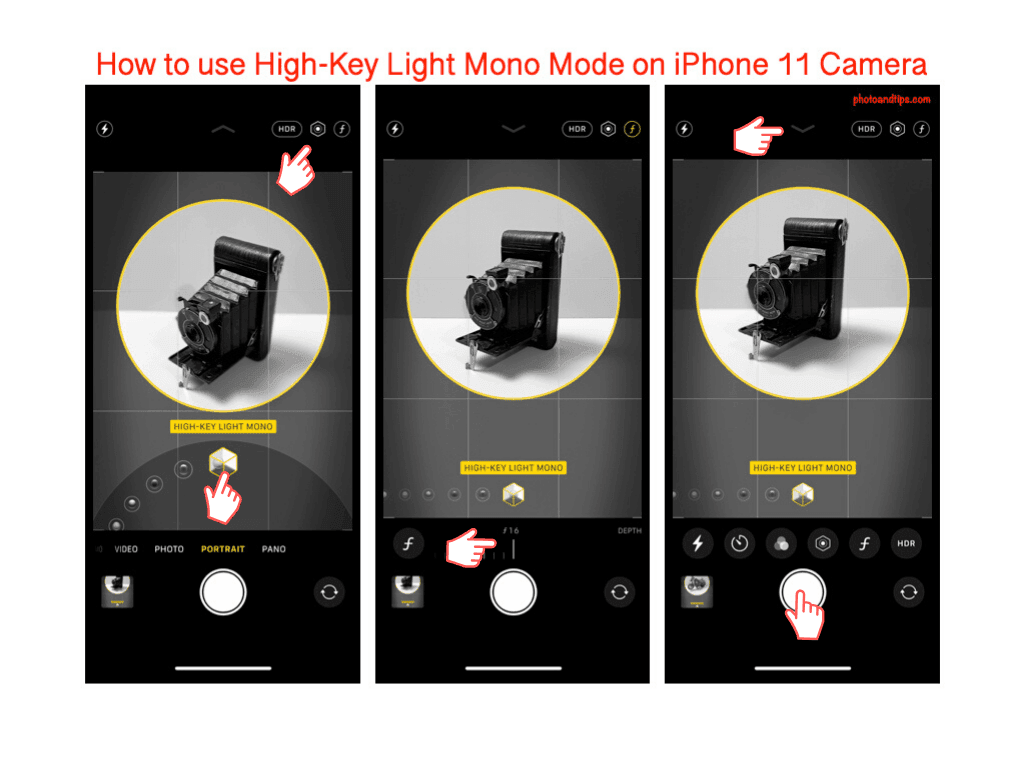 How to use High-Key Light Mono Mode on iPhone 11