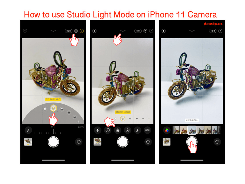 How to use Studio Light Mode on iPhone 11 Camera