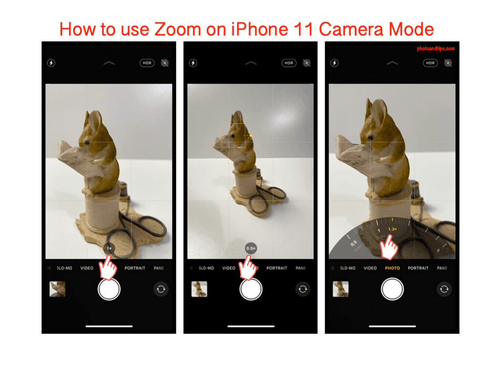 How to use Zoom on iPhone 11 Camera Mode