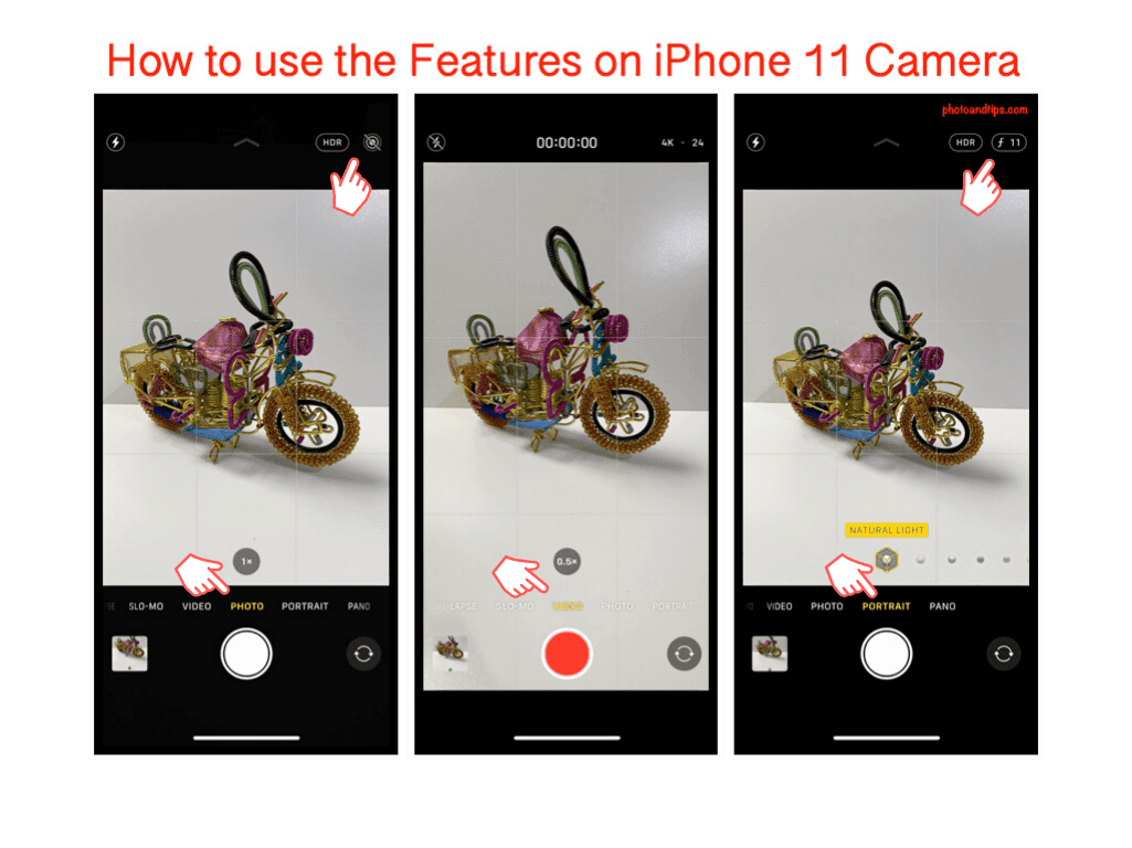 How to use the Features on iPhone 11 Camera