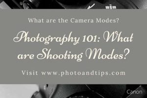 Shooting Modes in Camera Settings-Manual Mode