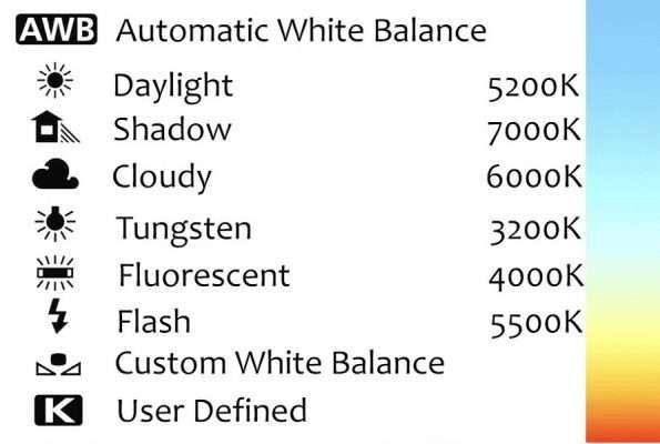White Balance in Camera Settings