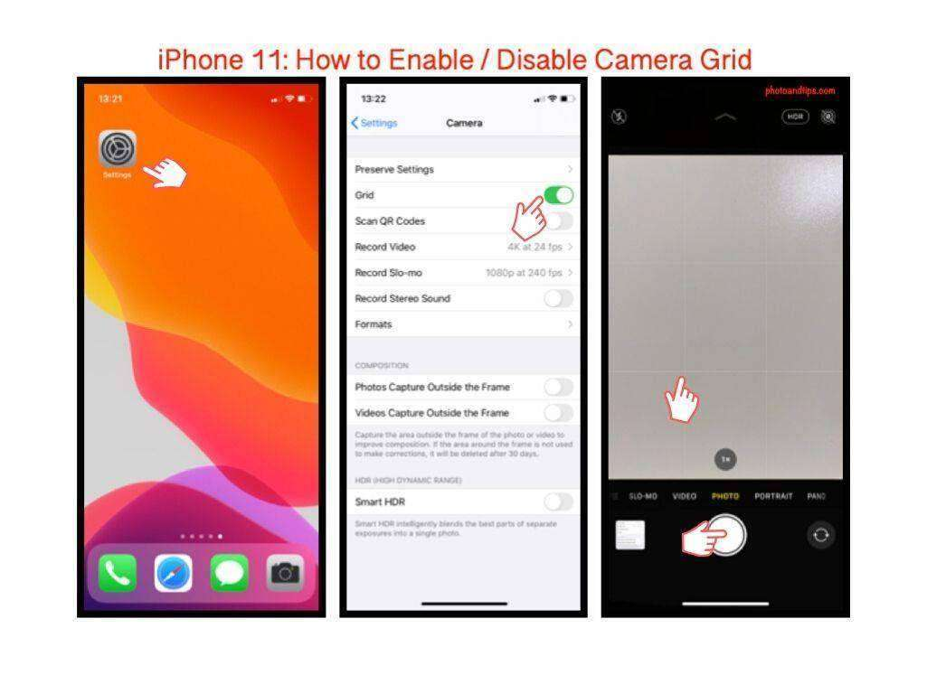 iPhone 11: How to Enable / Disable Camera Grid